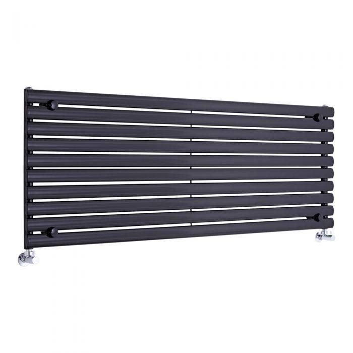 Radiador de Diseño Horizontal - Negro - 590mm x 1600mm x 55mm - 1298 Vatios - Revive