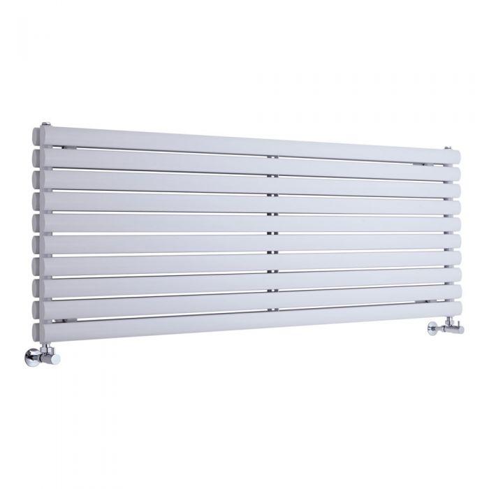 Radiador de Diseño Horizontal Doble - Blanco - 590mm x 1600mm x 56mm - 1881 Vatios - Revive
