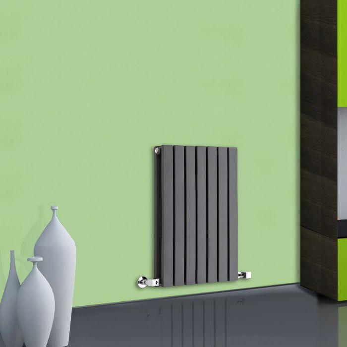 Radiador de Diseño Horizontal Doble - Antracita - 635mm x 420mm x 71mm - 653 Vatios - Sloane