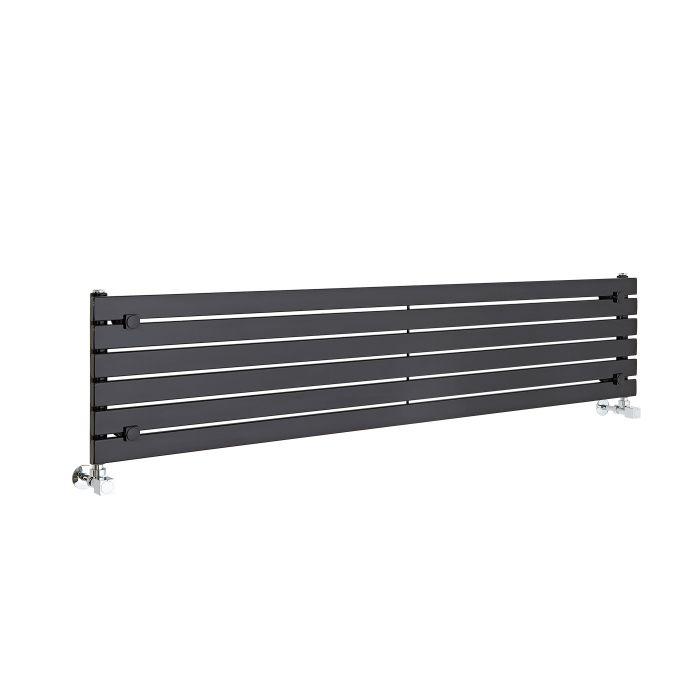 Radiador de Diseño Horizontal - Negro - 354mm x 1600mm x 54mm - 773 Vatios - Sloane