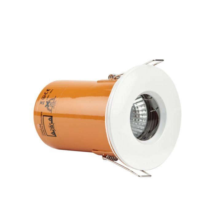 Foco Downlight LED GU10 de Techo de 240V con Marco Blanco