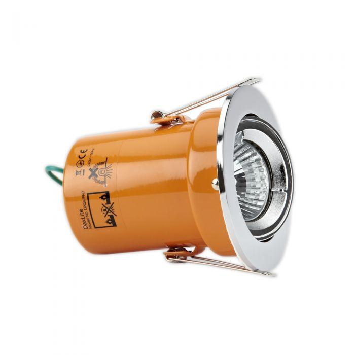 Foco Downlight LED GU10 de Techo de 240V con Marco en Color Cromo