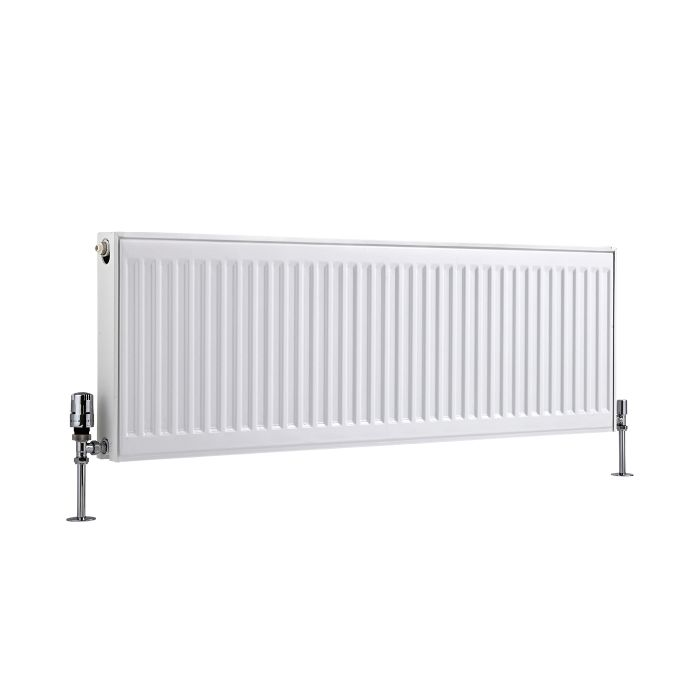 Radiador Convector Horizontal con Panel Doble Plus - Blanco - 400mm x 1200mm x 73mm - 1147 Vatios - Eco