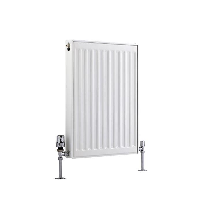 Radiador Convector Horizontal con Panel Doble Plus - Blanco - 600mm x 400mm x 73mm - 535 Vatios - Eco