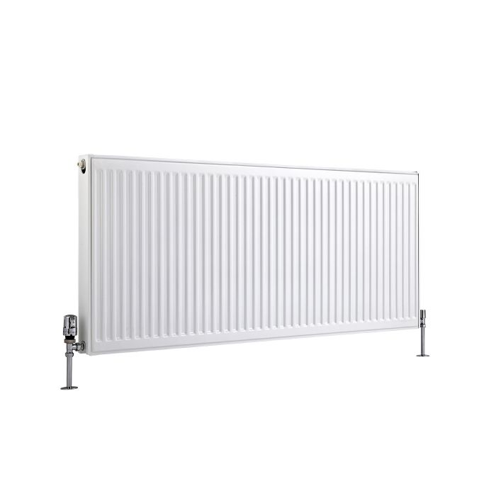 Radiador Convector Horizontal con Panel Doble Plus - Blanco - 600mm x 1400mm x 73mm - 1874 Vatios - Eco
