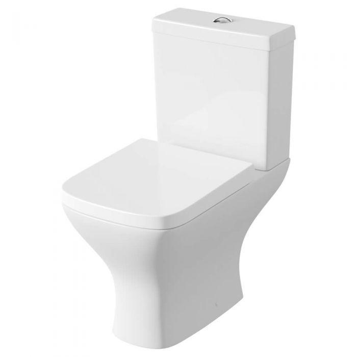 Inodoro WC Moderno con Cisterna y Tapa