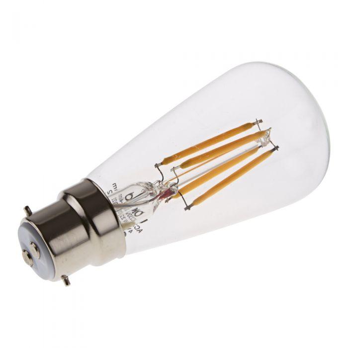 Bombilla LED B22 Tradicional con Filamentos 4W