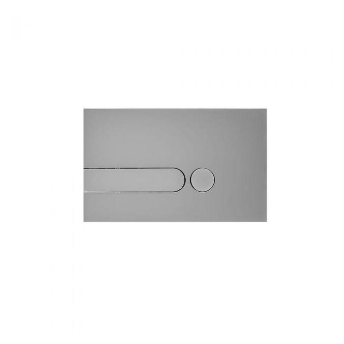 Placa de Accionamiento Color Cromado Satinado de 150x240mm para WC con Cisternas Empotrable - Cluo