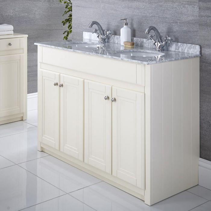 Mueble de Lavabo Tradicional Color Marfil 1200mm – Charlton