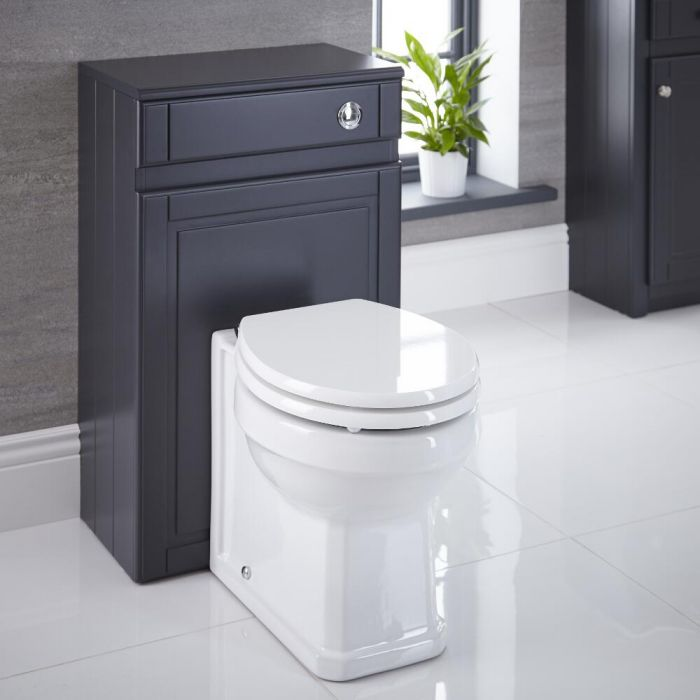 Mueble de Baño Tradicional Color Antracita 500mm para WC - Charlton