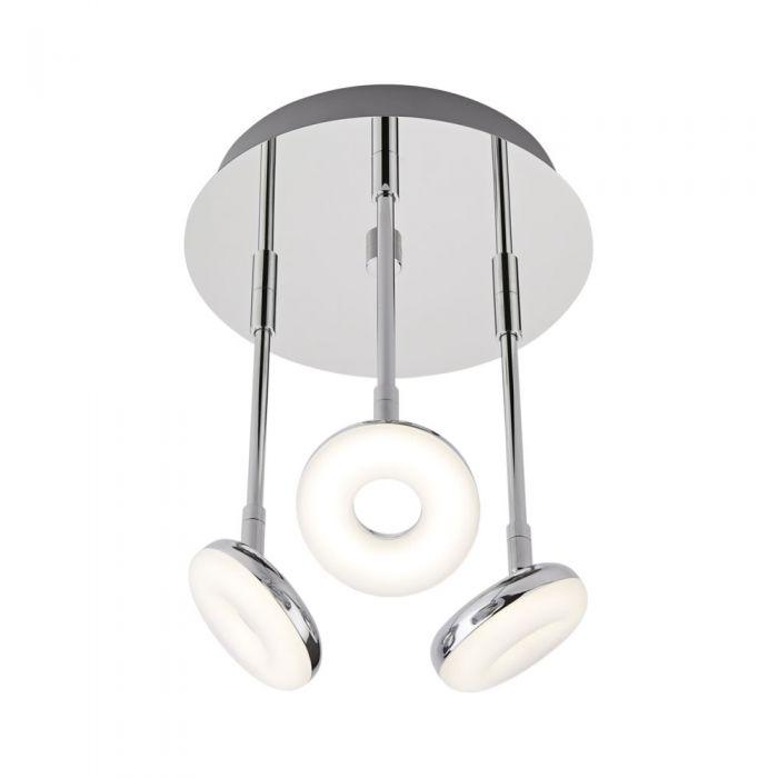 Luminaria de Techo con Tres Focos para Baño 16W - Ciambella