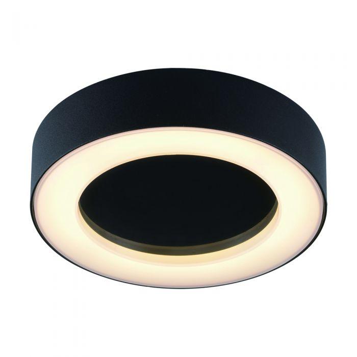 Plafón de Techo Circular Negro para Espacios Interiores 13W - Ambient