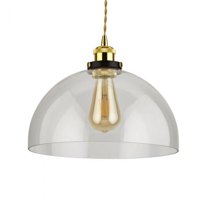 Lámpara de Techo Retro de Latón y Vidrio Disponible con Diferentes Acabados – Gracia