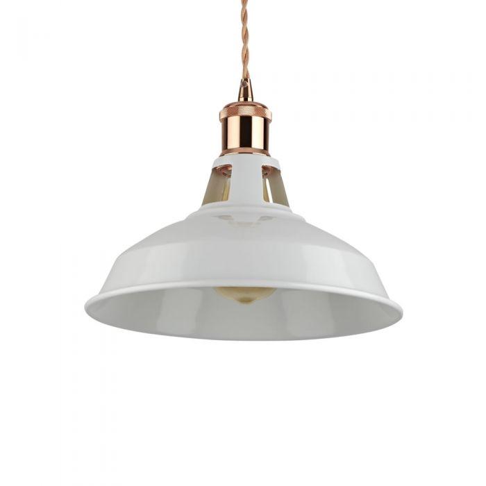 Lámpara de Techo de Suspensión Moderno de Latón con Acabado de Color Blanco - Brera