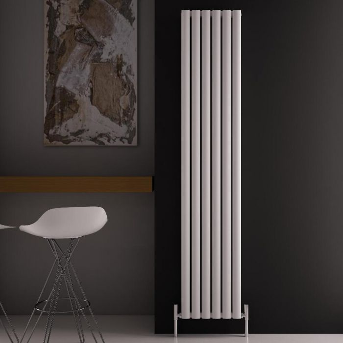 Radiador de Diseño Vertical Doble - Blanco - 1800mm x 350mm x 76mm - 1502 Vatios - Revive Air