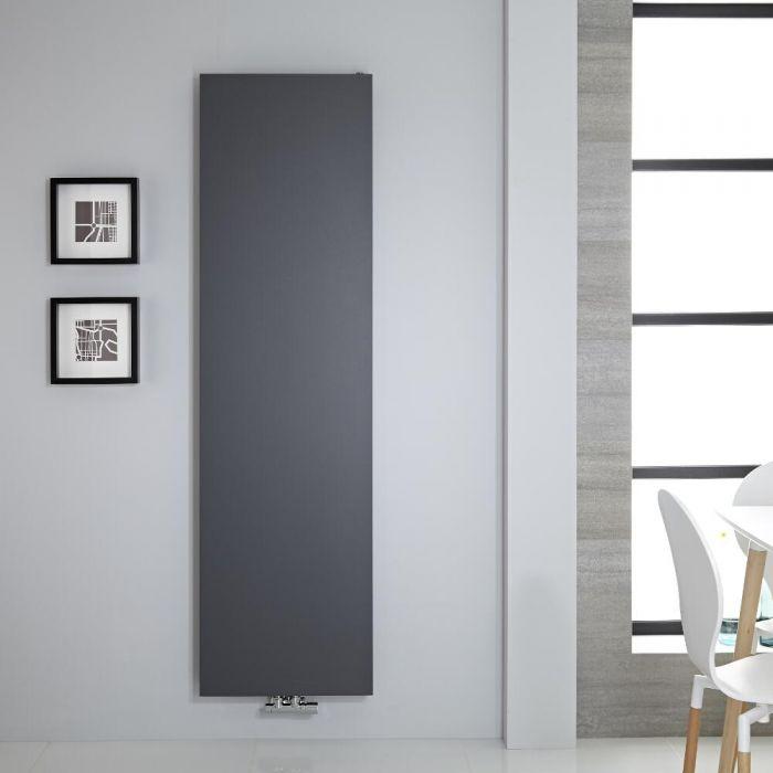 Radiador de Diseño Vertical - Panel Plano - Conexión Central - Antracita  - 1800mm x 500mm - 1123 Vatios – Rubi