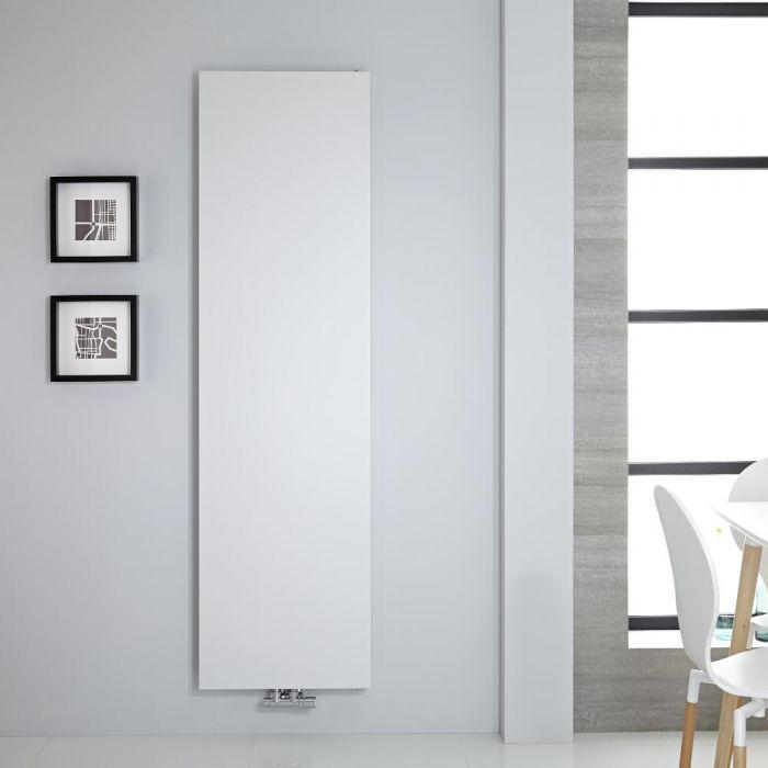 Radiador de Diseño Vertical - Panel Plano - Conexión Central - Blanco - 1800mm x 500mm - 1123 Vatios – Rubi