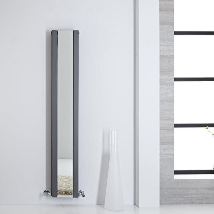 Radiador de Diseño - Vertical Con Espejo - Antracita - 1600mm x 265mm - 884 Vatios - Sloane