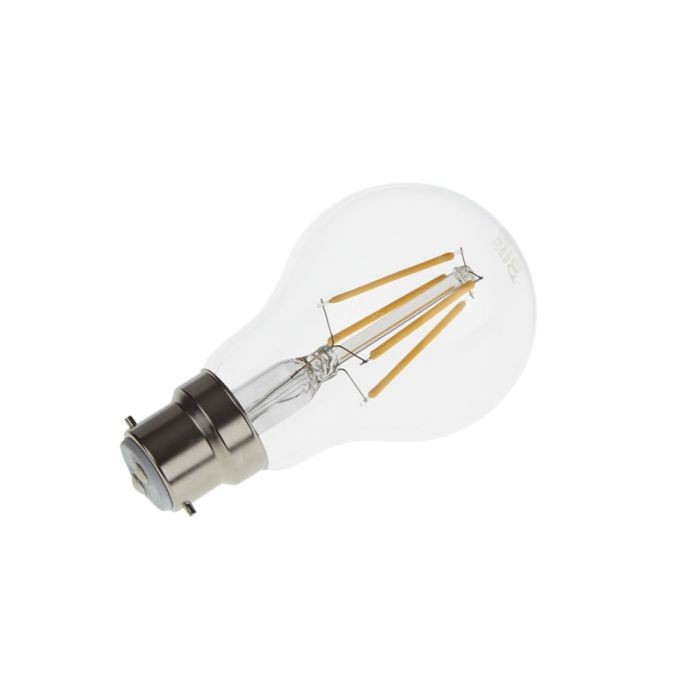 Bombilla LED B22 6W con Filamentos e Intensidad Luminosa Regulable