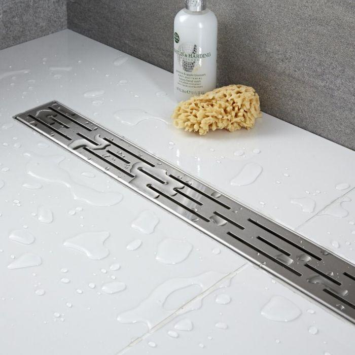 Canaleta para ducha de obra de 800mm con rejilla