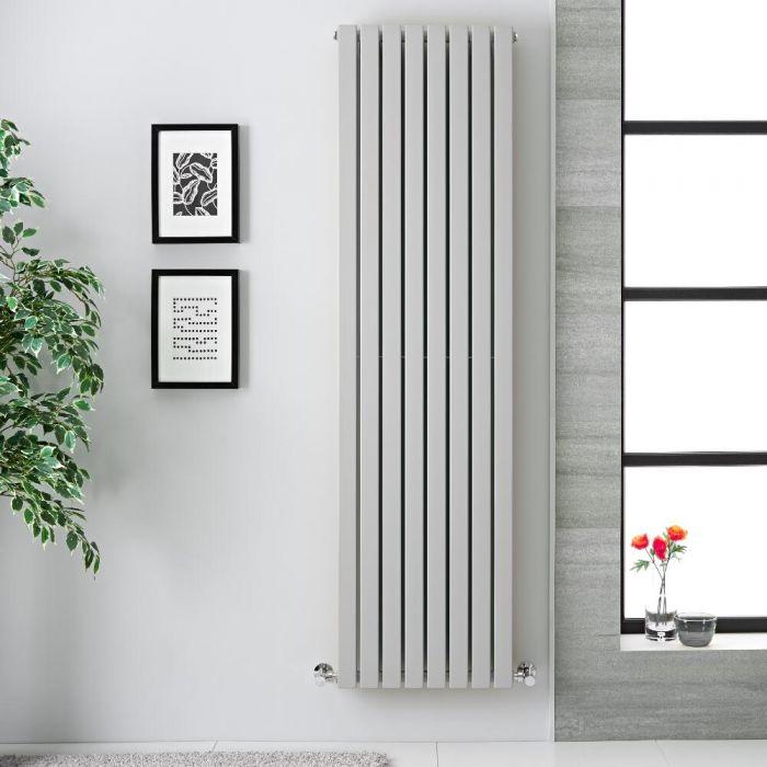 Radiador de Diseño Vertical - Doble - Gris Claro - 1780m x 472mm x 72mm -  1931 Vatios - Sloane