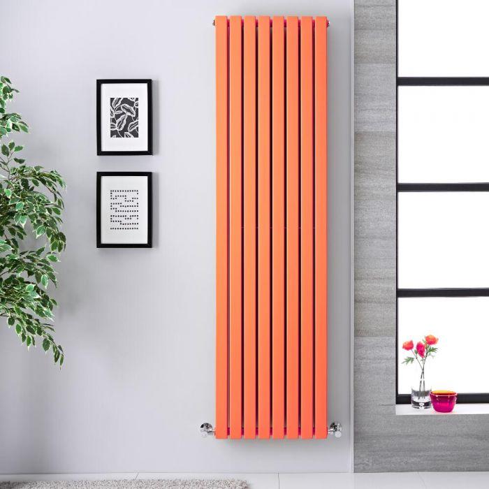 Radiador de Diseño Vertical Doble - Naranja Claro - 1780m x 472mm x 72mm - 1931 Vatios - Sloane