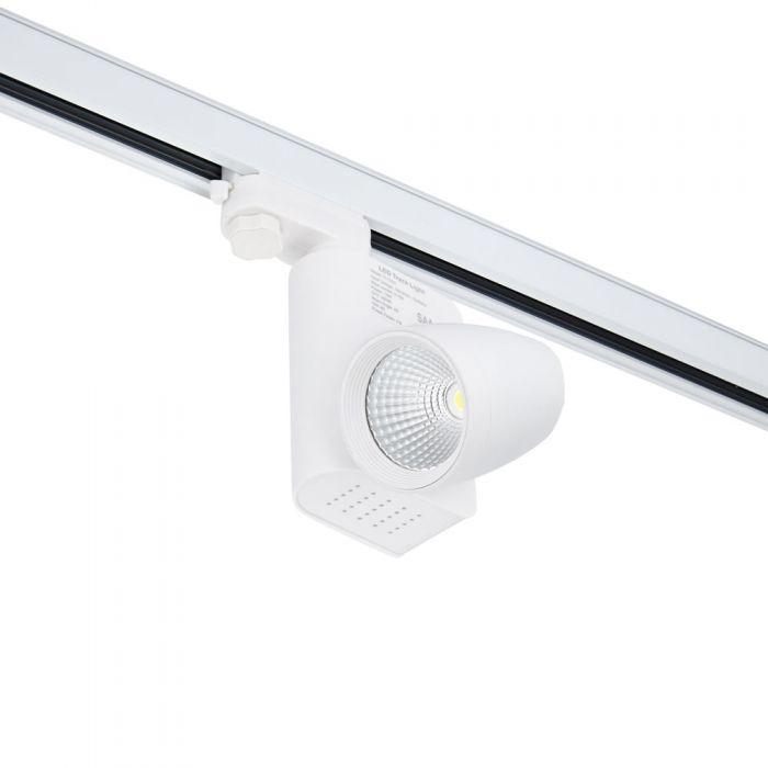 Foco LED de 12W para Instalación en Carril de 3 Circuitos - Blanco