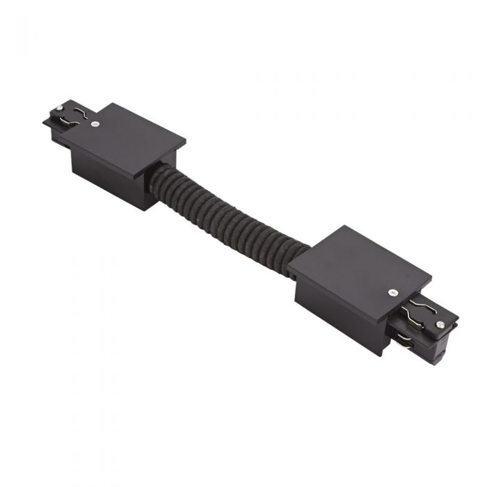 Conector Flexible Empotrable para Carriles de 3 Circuitos- Negro