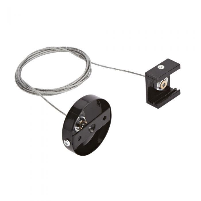 Conector para Colgar Carriles de 3 Sistemas al Techo - Negro