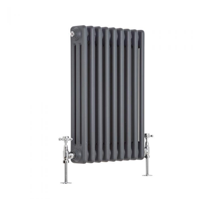 Radiador de Diseño Horizontal Triple Tradicional - Antracita - 600mm x 429mm x 100mm - 658 Vatios - Regent