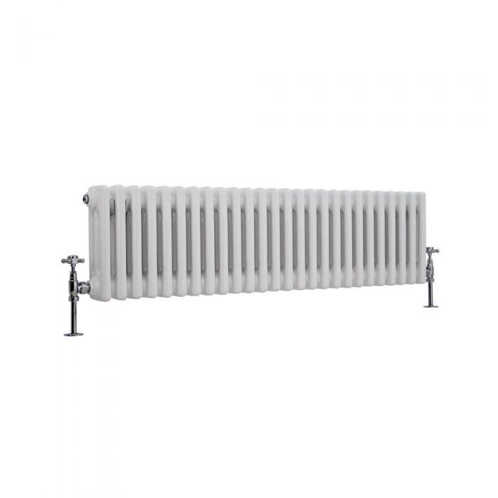 Radiador de Diseño Horizontal Triple Tradicional - Blanco - 300mm x 1193mm x 100mm - 1051 Vatios - Regent