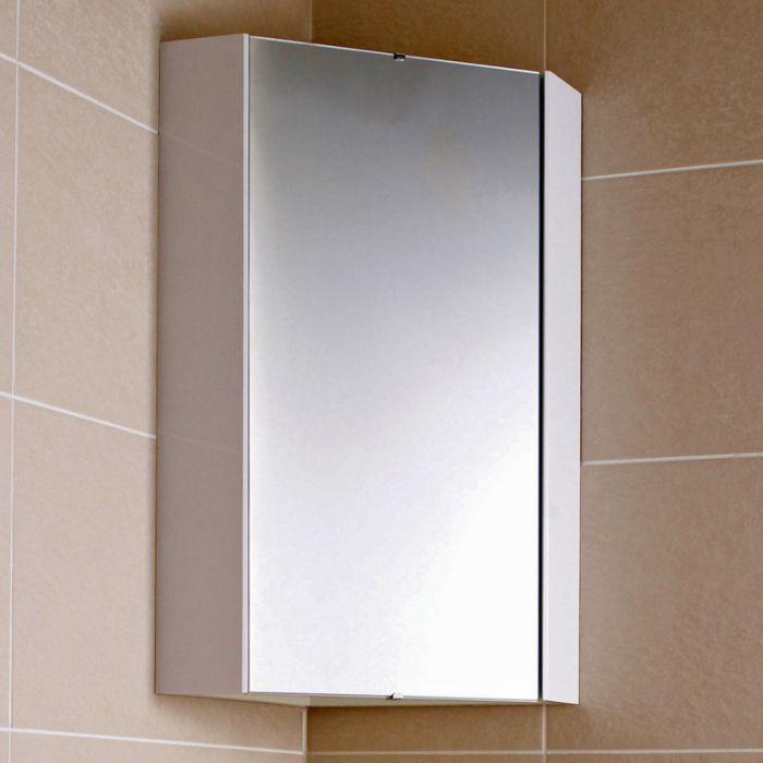 armario con espejo de esquina para bao