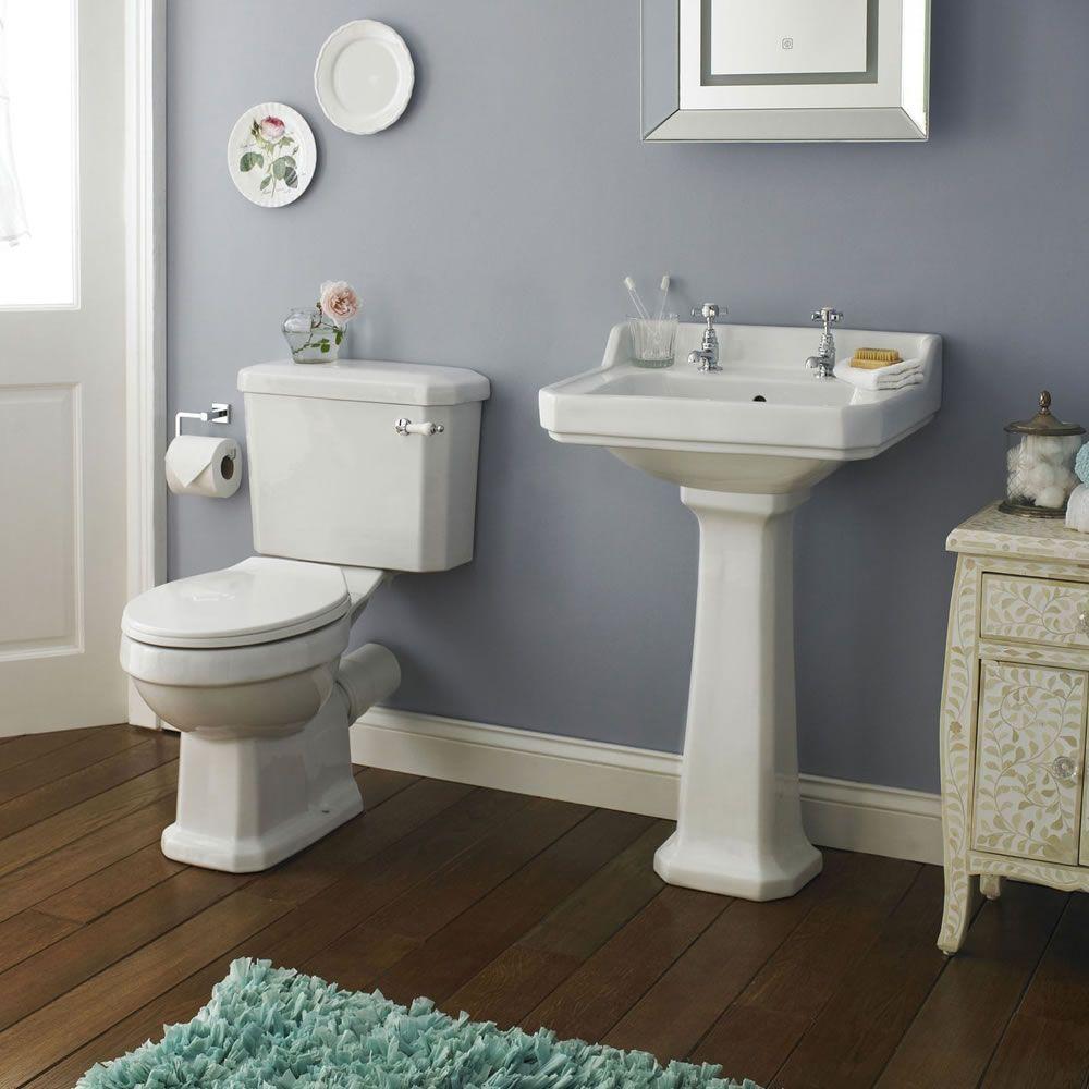 Conjunto de ba o completo con inodoro wc con tapa cisterna for Inodoro con cisterna