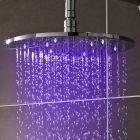 Alcachofa de Ducha LED Orientable en Acero Inoxidable de 300mm