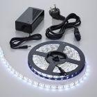 Tira de Luces LED de 5 Metros en Color Blanco Frio de Conexión a la Alimentación Eléctrica