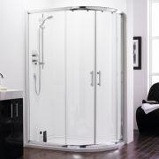 Mampara de Ducha Angular con Puertas Correderas para Ángulo Derecho de 1200 x 800mm