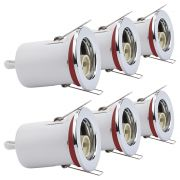 6 Focos Downlight Empotrables Redondos GU10 de Techo IP20