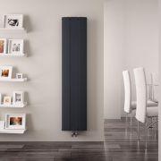 Radiador de Diseño Vertical Con Conexión Central - Aluminio - Antracita - 1600mm x 280mm x 45mm - 1021 Vatios - Aurora