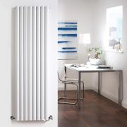 Radiador de Diseño Vertical Doble - Blanco - 1600mm x 472mm x 78mm - 1638 Vatios - Revive