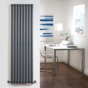 Radiador de Diseño Vertical Doble - Antracita - 1600mm x 472mm x 78mm - 1638 Vatios - Revive