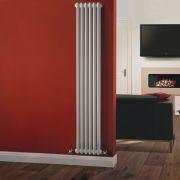 Radiador de Diseño Vertical Doble Tradicional - Blanco - 1800mm x 290mm x 68mm - 934 Vatios - Regent