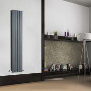 Radiador de Diseño Vertical Doble - Antracita - 1600mm x 354mm x 72mm - 1193 Vatios - Sloane