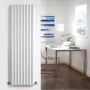 Radiador de Diseño Vertical Doble - Blanco - 1780mm x 472mm x 78mm - 1868 Vatios - Revive