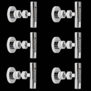 6x Jets de Ducha Hidromasaje con Cabezal Orientable