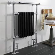 Radiador de Diseño Vertical - Cromado - 960mm x 675mm x 230mm - 680 Vatios - Marquesa