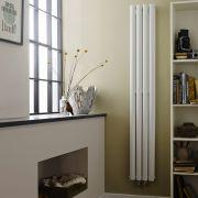 Radiador de Diseño Vertical Doble Ahorra Espacio - Blanco - 1800mm x 236mm x 78mm - 810 Vatios - Revive