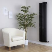 Radiador de Diseño Vertical - Negro - 1600mm x 342mm x 84mm - 1052 Vatios - Fin