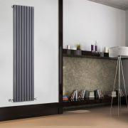 Radiador de Diseño Vertical - Antracita - 1780mm x 472mm x 53mm - 1195 Vatios - Sloane