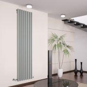 Radiador de Diseño Vertical - Plateado - 1780mm x 472mm x 80mm - 1391 Vatios - Savy