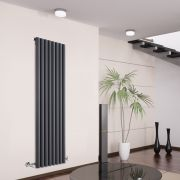Radiador de Diseño Vertical - Antracita - 1600mm x 472mm x 80mm - 1278 Vatios - Savy